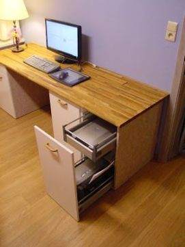 Desk in a workspace
