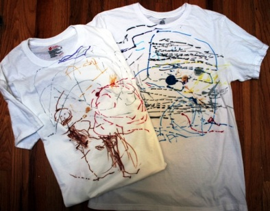 Kid's doodle over the shirt