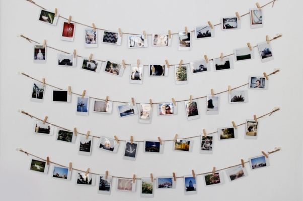 Clothes-line Photo Holder