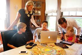 Family with Technology