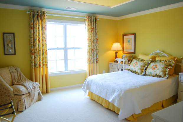 Yellow Colour Balance in Bedroom