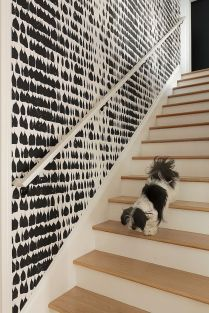 Graphic-black-and-white-wallaper-adds-chic-beauty-to-the-interior