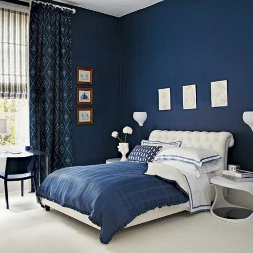 bedroom-contemporary-girl-blue-and-black-bedroom-decoration-using-upholstered-tufted-white-leather-headboard-including-modern-round-white-night-stand-and-accent-pattern-blue-bedroom-curt