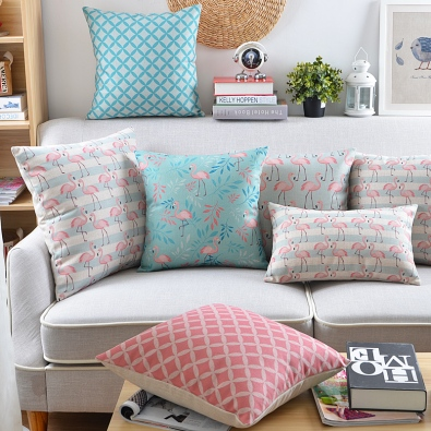Decorative-Cushion-font-b-Covers-b-font-Cotton-Linen-Light-Blue-font-b-Pink-b-font