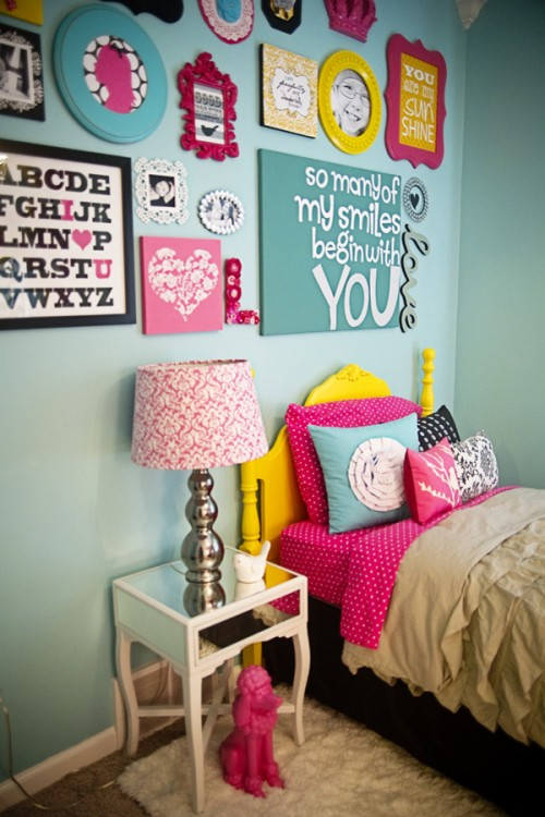love-the-bright-colors.-this-would-make-a-great-little-girl-sharp39-s-room---you-can-change-out-whats-in-the-frames-as-she-grows-up.