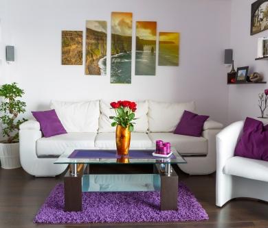 nice-modern-living-room-wall-art-canvas-with-white-sofa-and-purple-cushions.jpg